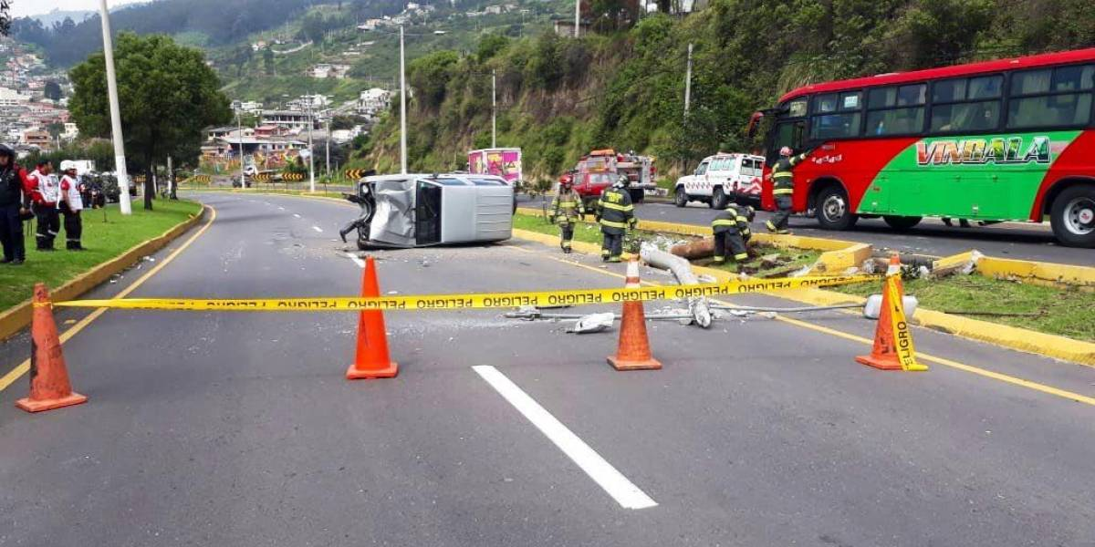 Un persona herida tras accidente de tránsito en la autopista General Rumiñahui