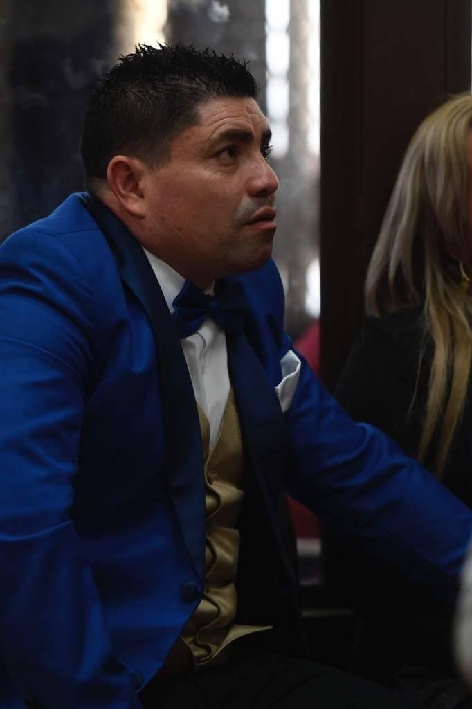 """Audiencia de apertura a juicio del caso """"La Sexta"""", en el cual está señalado """"el Taquero"""" por la muerte de Byron Lima. Foto: Omar Solís"""