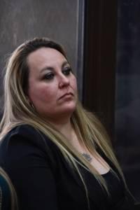 """Audiencia de apertura a juicio del caso """"La Sexta"""", en el cual está señalada María Martha Castañeda por la muerte de Byron Lima."""