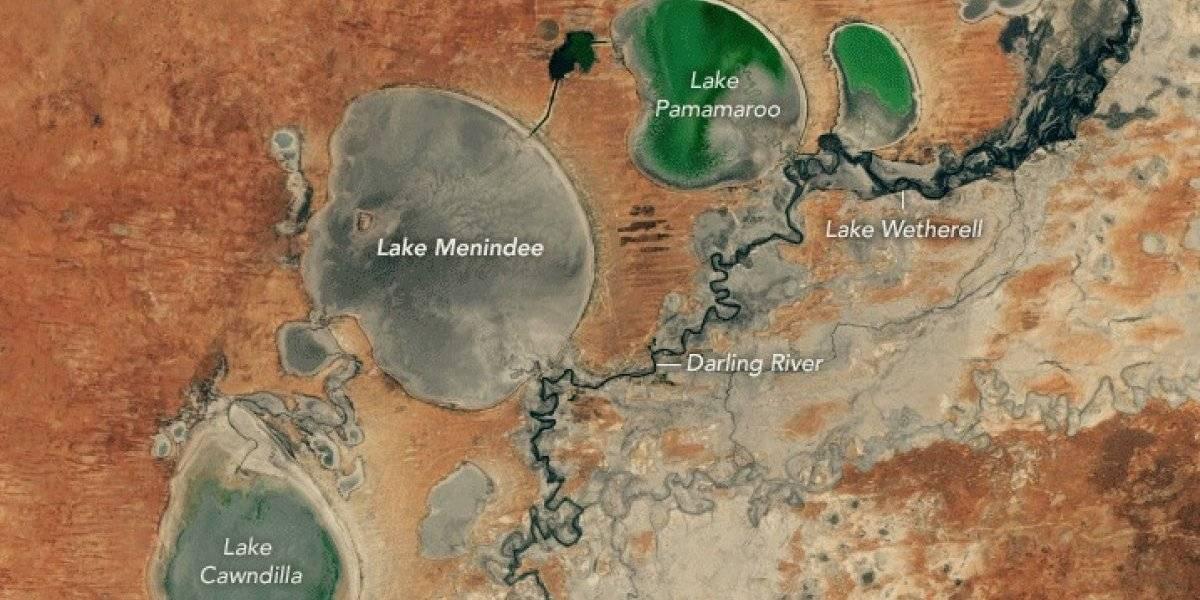 La NASA muestra en dos segundos la impactante sequía en la que desaparecieron 800 mil millones de litros de agua en Australia