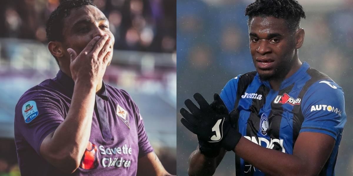 ¡Choque imperdible de artilleros! Muriel y Duvan se ven las caras en Copa Italia