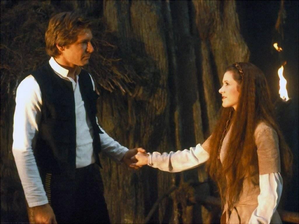 Leia e Han Solo