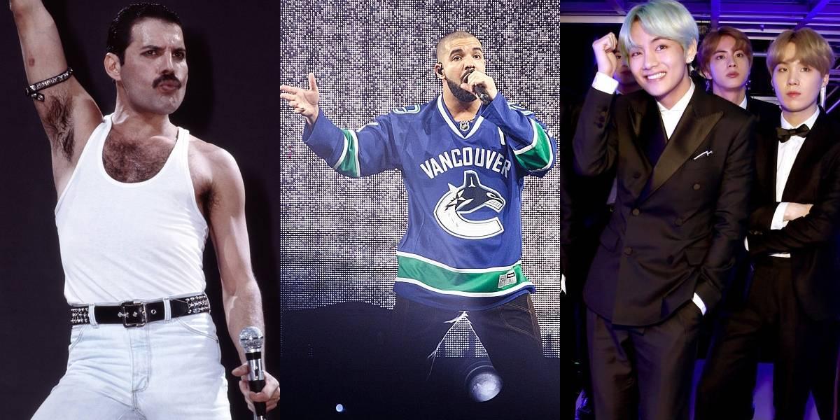 Queen volta ao ranking dos artistas que mais venderam em 2018; Drake e BTS lideram