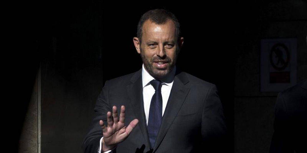 Justicia da libertad provisional a expresidente del Barcelona, Sandro Rosell