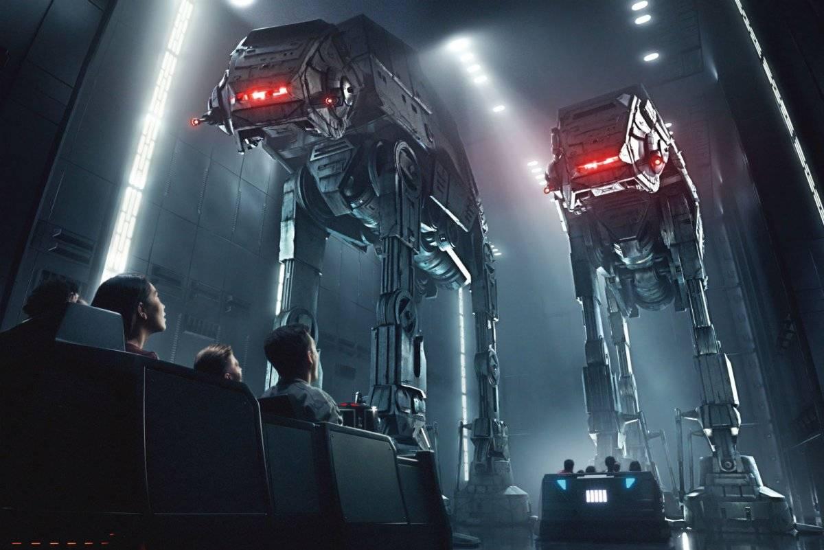 Arte de conceito dos robôs do universo Star Wars, que estão presentes no parque Reprodução: Disney Parks