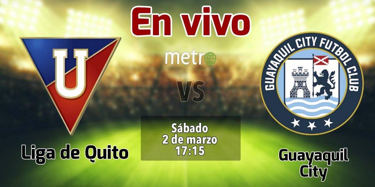 Liga pro Ecuador: Liga de Quito vs Guayaquil City. En vivo, donde ver el partido, hora y alienaciones