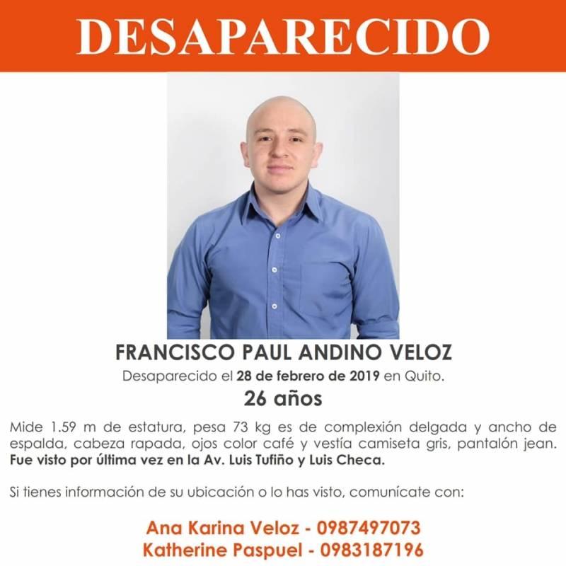 Francisco Paúl Andino, desaparecido