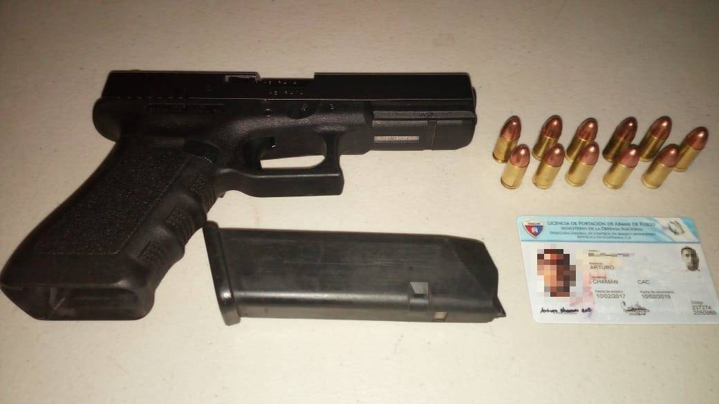 Arma incautada en Alta Verapaz
