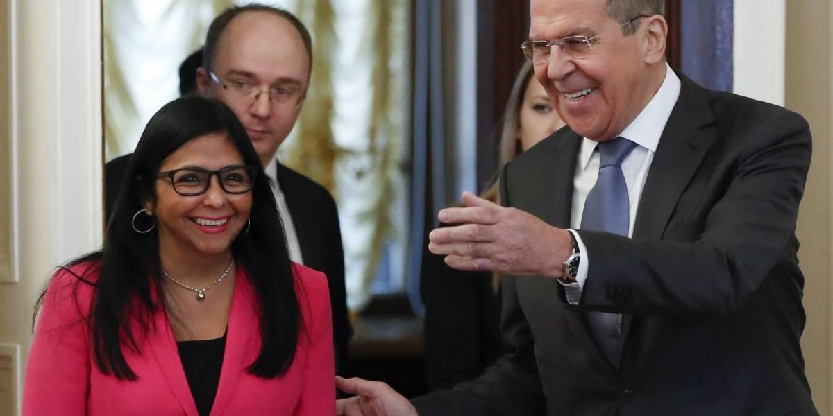 Vicepresidenta venezolana visita Moscú para buscar apoyo y contrarrestar la presión de EEUU
