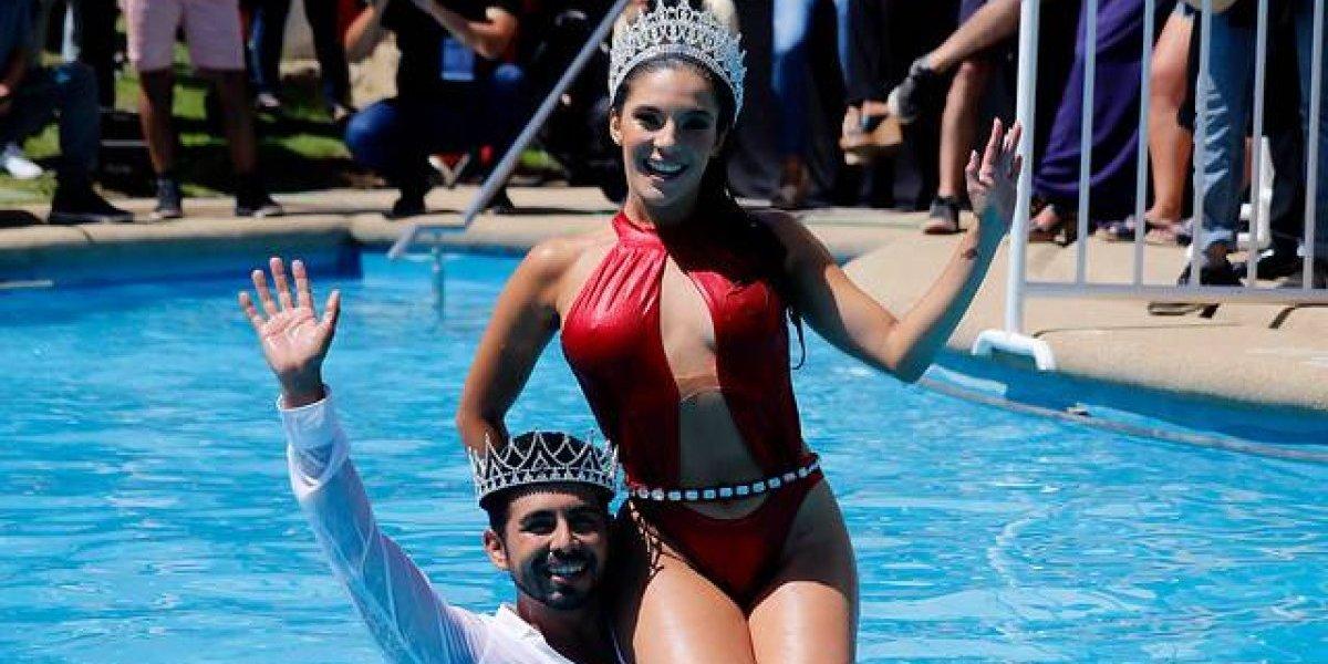 Los reyes cumplieron con el rito en Viña 2019: revive el aplaudido piscinazo de Chantal Gayoso y Hernán Arcil