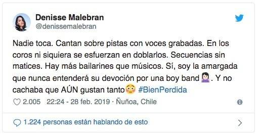 Denisse Malebrán Backstreet Boys