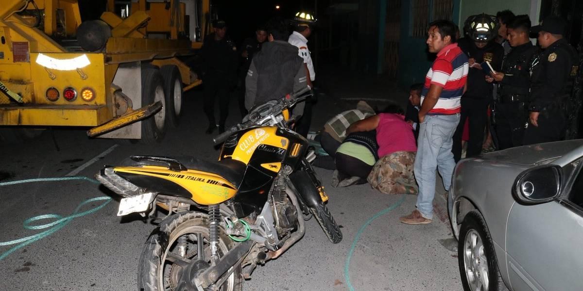 Joven muere al chocar durante competencia de motocicletas en zona 18
