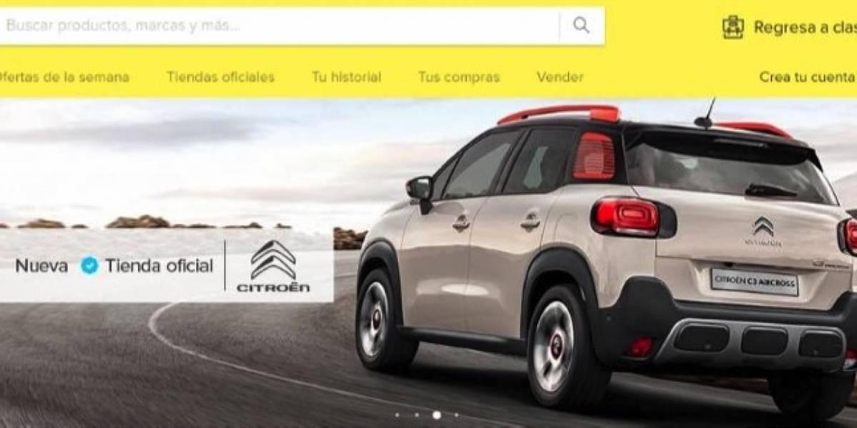 Citroën abre una nueva tienda virtual en Mercado Libre