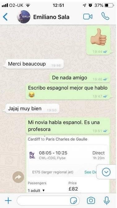 Conversación de Emiliano Sala