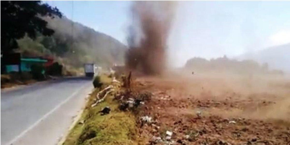"""VIDEO. Evento meteorológico """"Tolvanera"""" se registra en Quetzaltenango"""