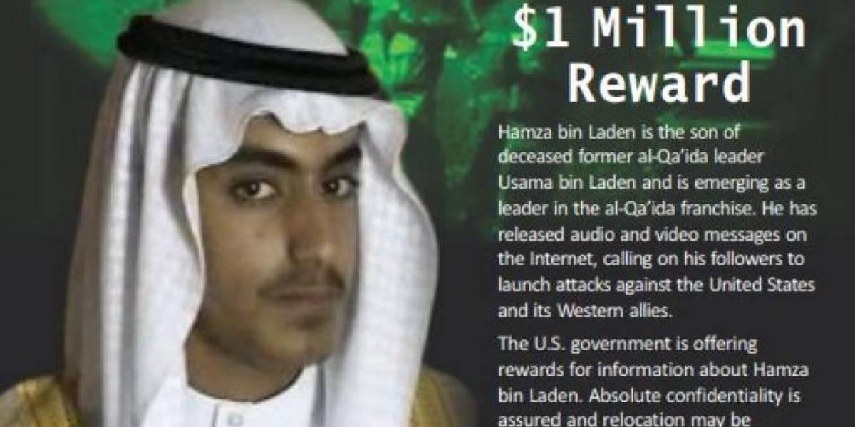 EEUU inicia cacería de hijo de Bin Laden: ofrece recompensa de un millón de dólares
