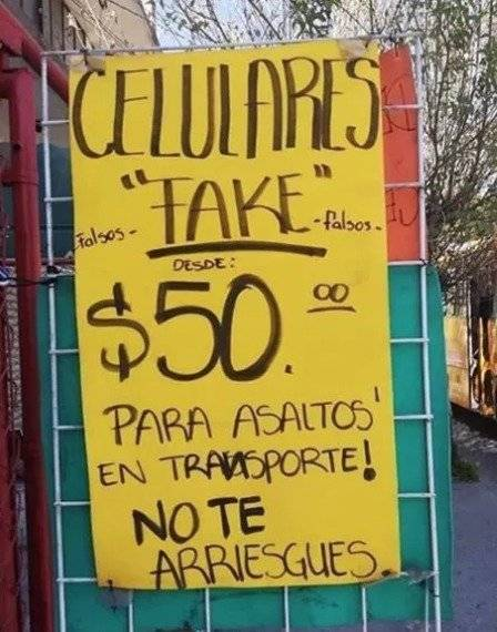México celulares falsos
