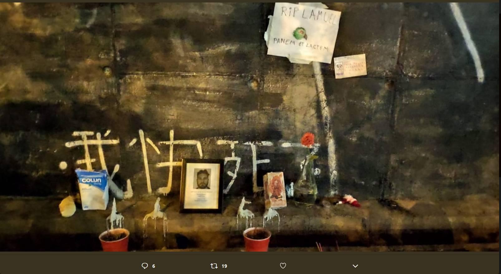 Caso Nido: Usuarios de redes sociales suben fotos con animita de administrador fallecido