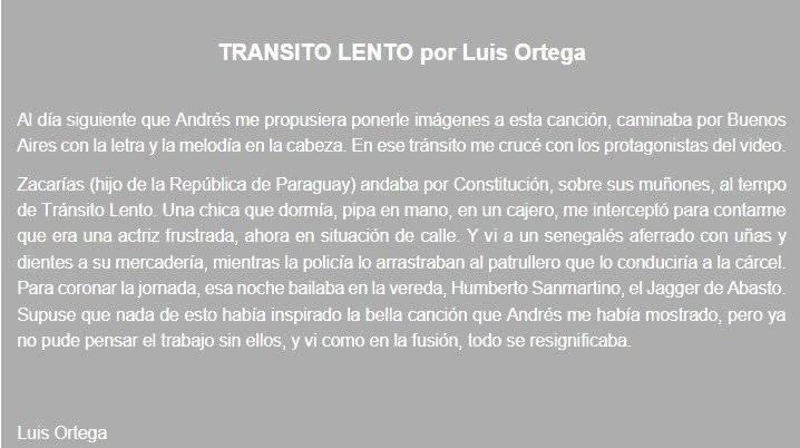 Tránsito lento por Luis Ortega