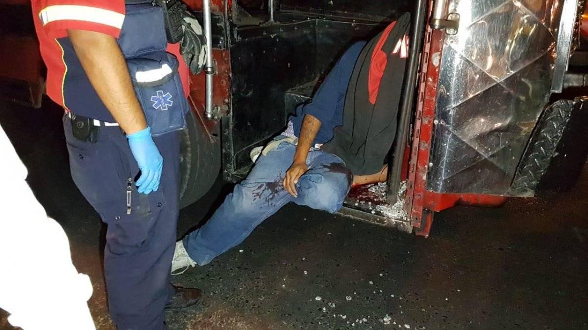Ataque armado en la calzada San Juan