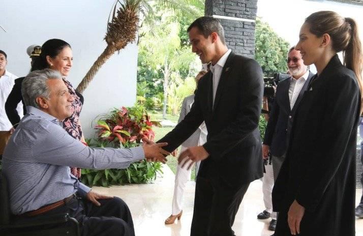 Lenín Moreno se reunió con Juan Guaidó