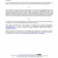CorteIDH declara a Guatemala como responsable de no investigar amenazas contra jueza.