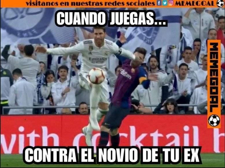 Un nuevo meme sobre la agresión de Sergio Ramos a Messi. Twitter