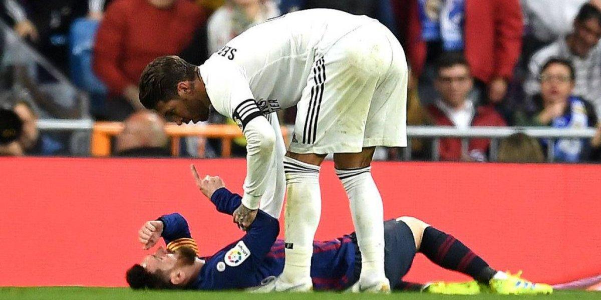 Messi llama 'mala leche' a Sergio Ramos durante clásico español