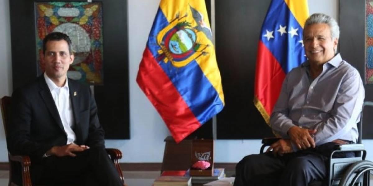 Presidente Lenín Moreno se reunió con Juan Guaidó en Ecuador