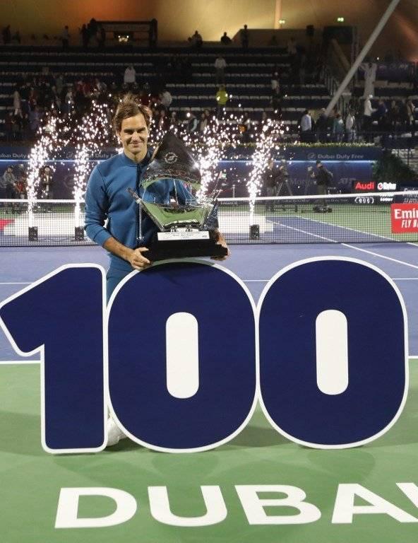 Victoria cien de Federer
