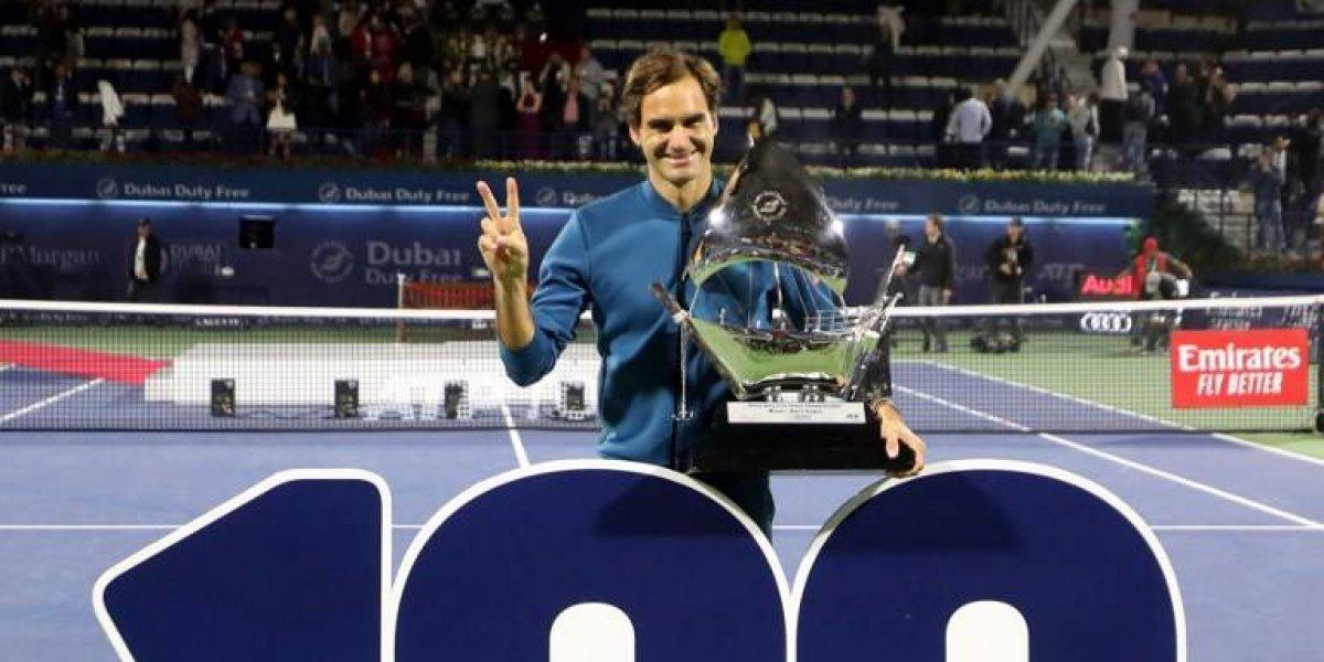 ¡Federer logra el centenar de títulos!