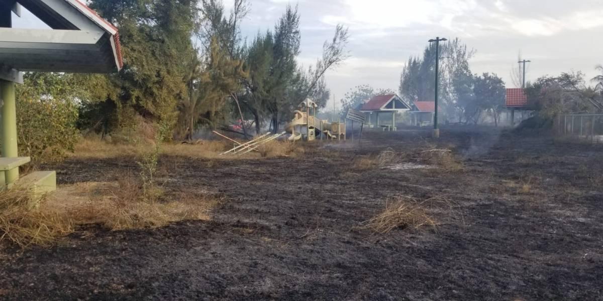 Se reporta incendio forestal en Parque Lineal de Ponce