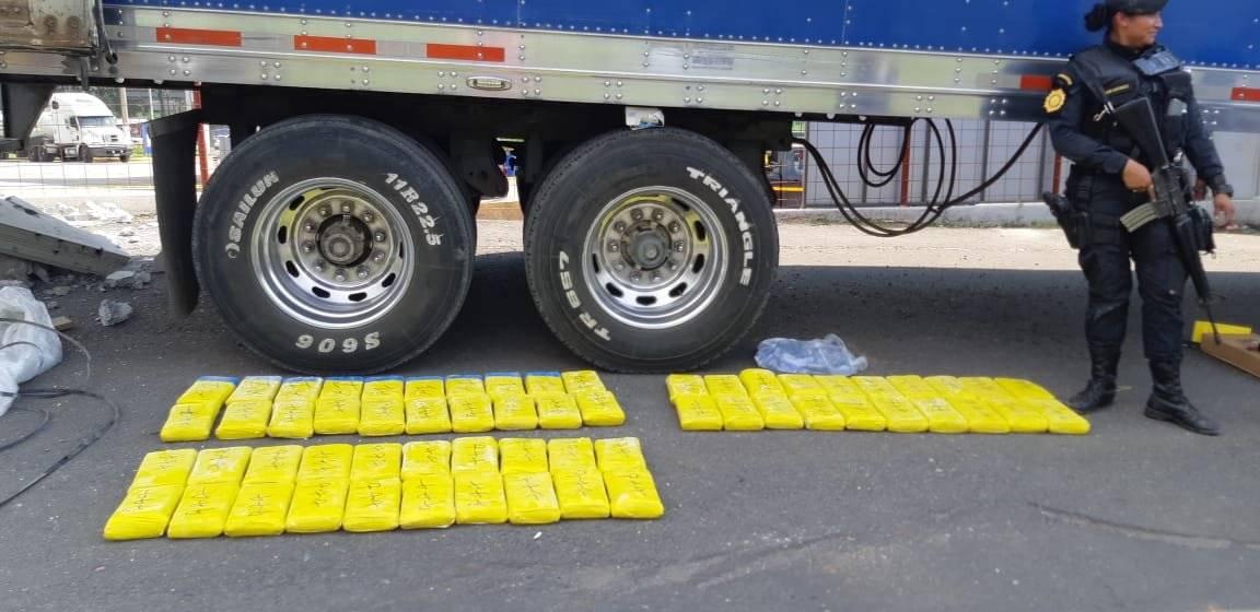 Los 150 paquetes de cocaína estaban envueltos en un plástico amarillo. Foto: MP