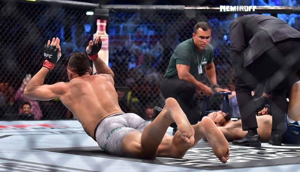 Johnny Walter, lesionado en pelea de UFC