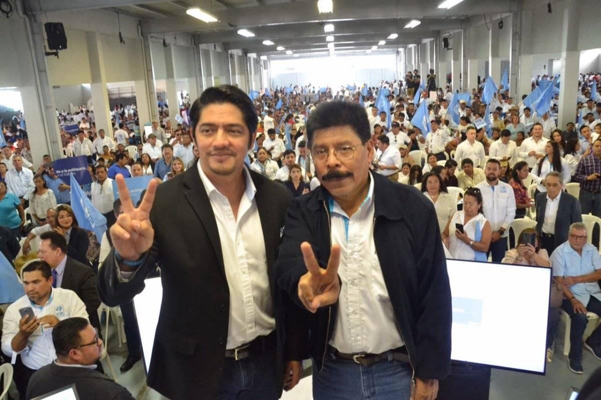 Juan Carlos Eggenberger y Antonio Rodríguez López habían sido presentados como el binomio presidencial de Viva. Foto: Cortesía