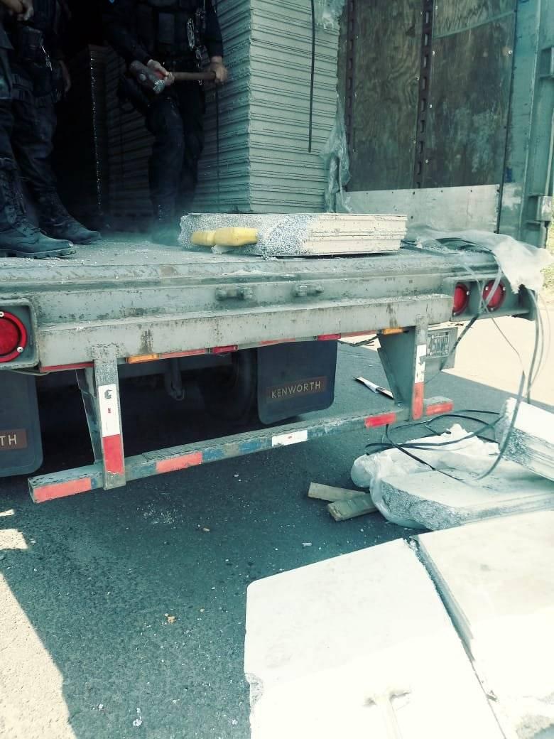 La cocaína estaba escondida en paredes de concreto prefabricadas. Foto: MP