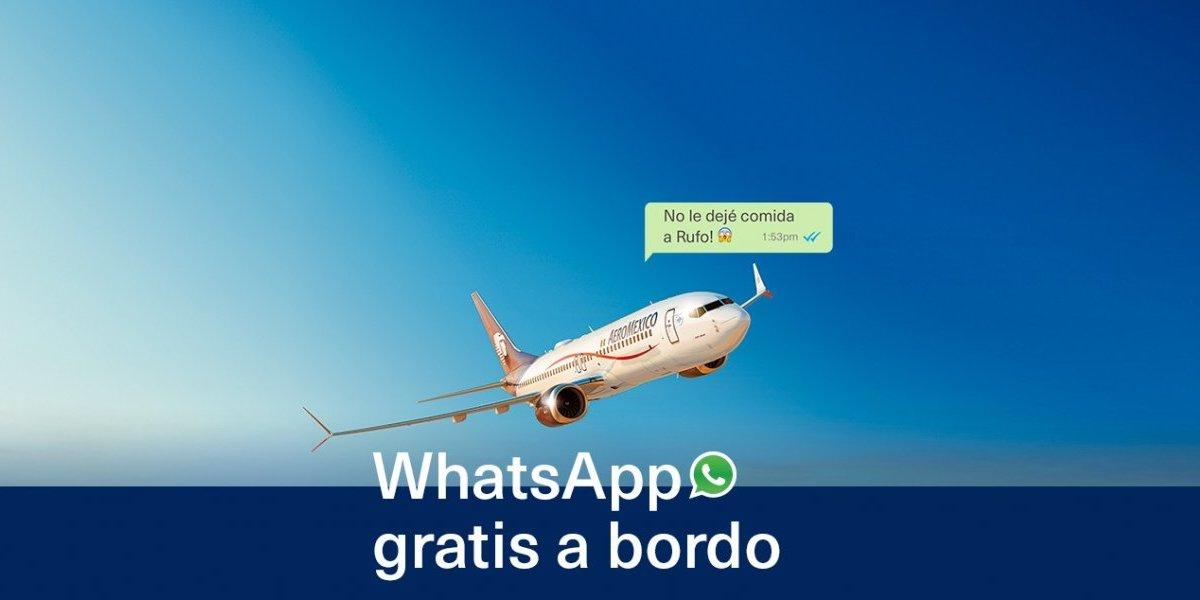 Aeroméxico permitirá enviar mensajes de Whatsapp en aviones