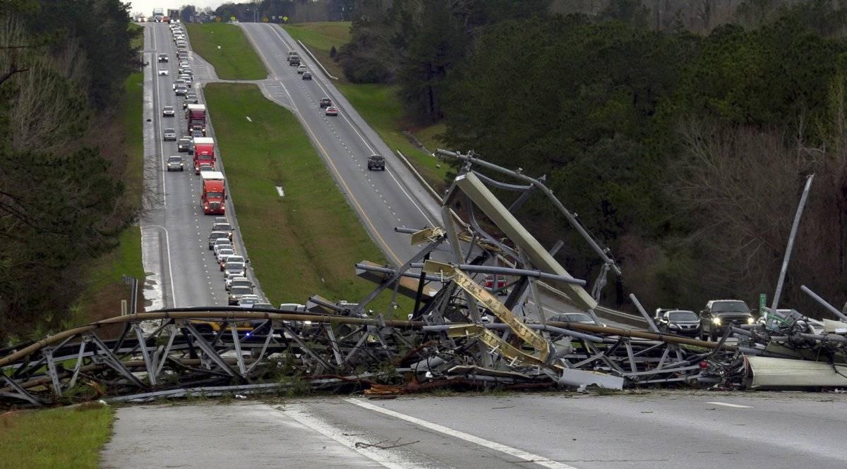 Imágenes de la devastación en Alabama, Estados Unidos Foto: AP