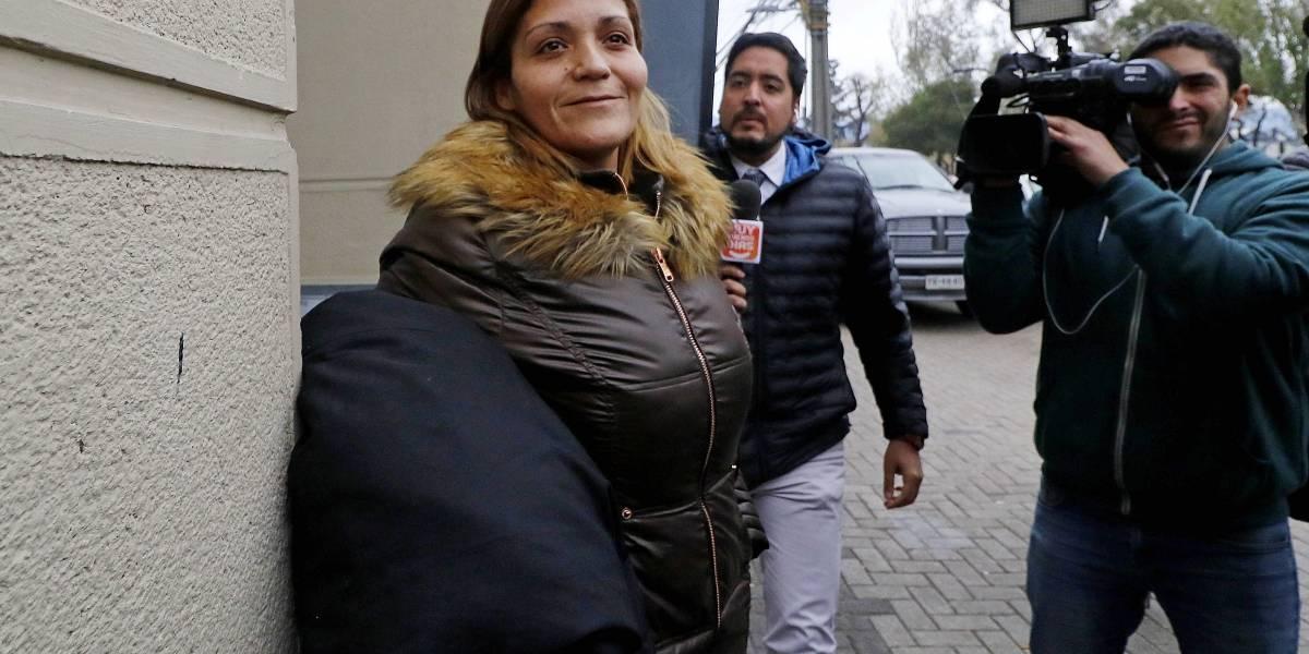 Katherine Orellana es nuevamente detenida por carabineros