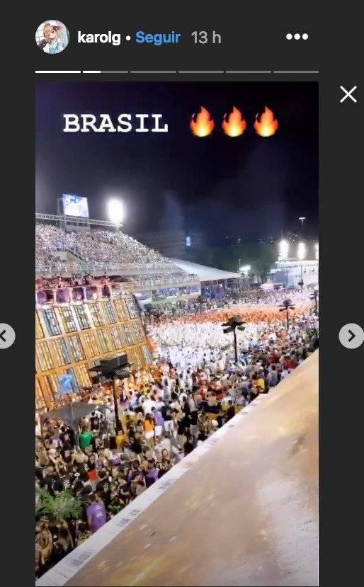 Karol G festeja a lo grande el Carnaval de Rio sin Anuel AA Instagram