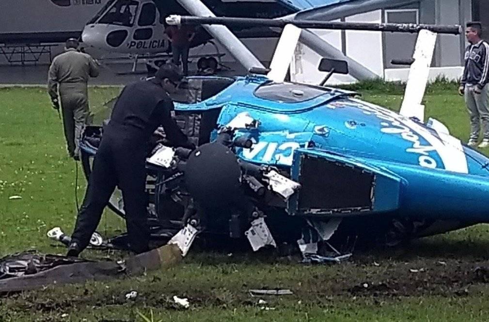 Helicóptero de la Policía Nacional sufrió accidente en el Parque Bicentenario