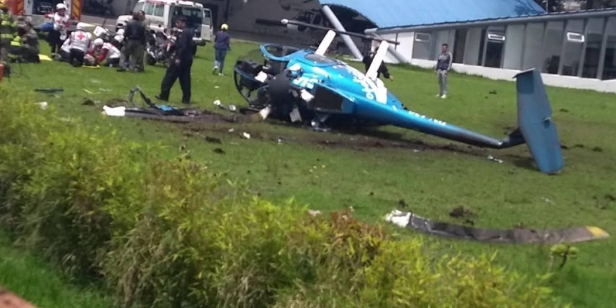 Ministra María Paula Romo se pronuncia ante accidente del helicóptero Aeropolicial en el Parque Bicentenario