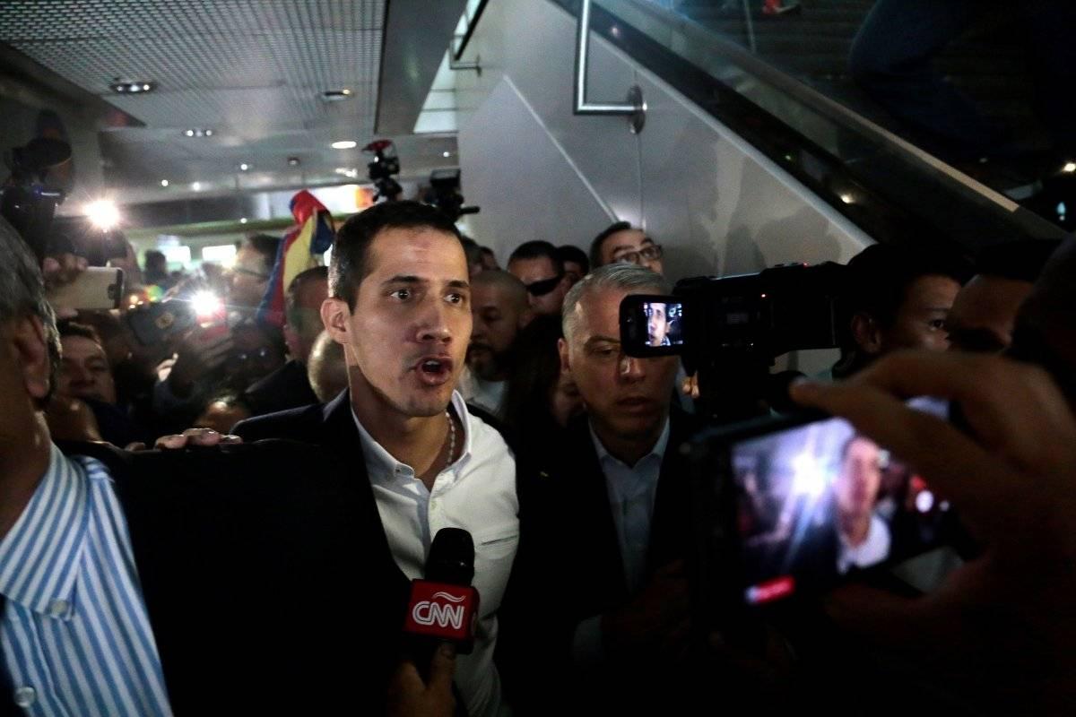 Guaidó llegó a Venezuela
