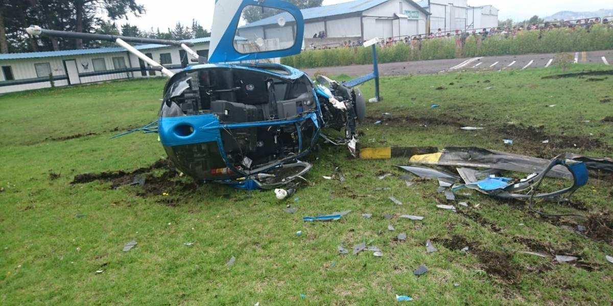 Se investiga el uso que se le daba al helicóptero siniestrado en parque Bicentenario