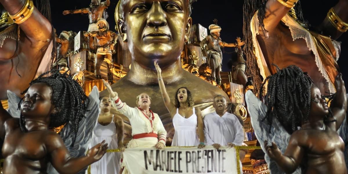 Marielle Franco e Clara Nunes são homenageadas em desfiles no Rio
