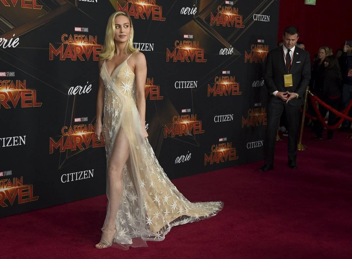 Vestido de Brie Larson en el estreno de Capitana Marvel