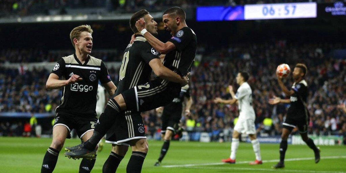 Batacazo histórico: Real Madrid fue goleado por Ajax y quedó eliminado de la Champions League
