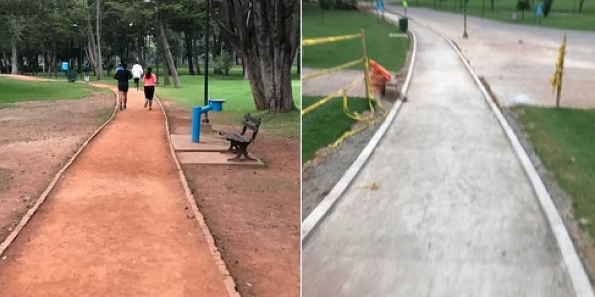 ¿Están pavimentando la pista de atletismo del Parque Simón Bolívar?