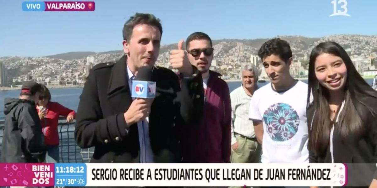"""Sergio Lagos reapareció en """"Bienvenidos"""" como notero y los televidentes piden que vuelva al panel del matinal"""