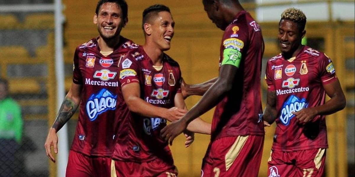 """""""Baila, baila, baila sus bambucos mi Tolima"""" Los pijaos celebraron su primera victoria en Libertadores"""